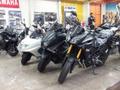 ヤマハブースでは、話題の3輪バイク、トリシティ展示中!MTシリーズも展示しています!