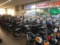 バイパスに面したショールームではホンダ、スズキ、ヤマハ、カワサキの国内4メーカーを中心に数多くのバイクを取り揃えております。